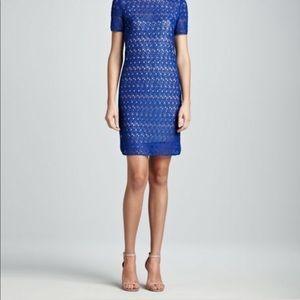 Akris Punto Lace Dress in Blue